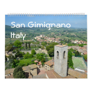12 meses San Gimignamo, calendario de la foto de