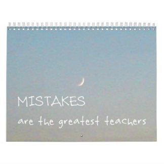 12 Mistakes 2016 Inspirational Calendar