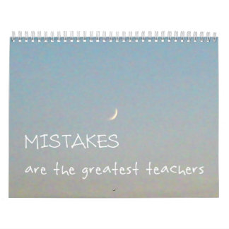 12 Mistakes 2018 Inspirational Calendar