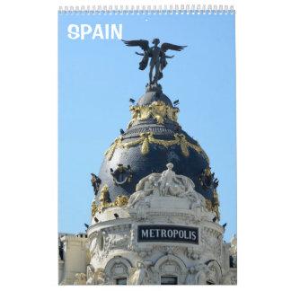 12 month Around Madrid wall calendar