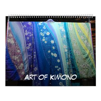 12 month Art of Kimono Calendar