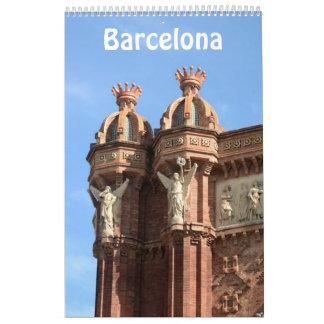 12 month Barcelona, Spain Photo Calendar