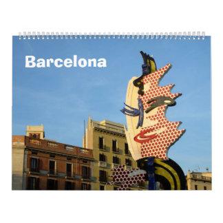 12 month Barcelona Wall Calendar
