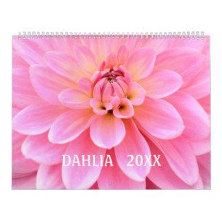 12 month Beautiful Dahlia Photo Calendar