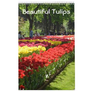 12 month Beautiful Tulips Calendar