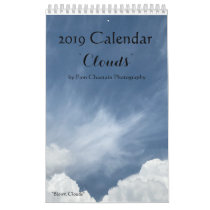 "12 Month Calendar ""Clouds"""