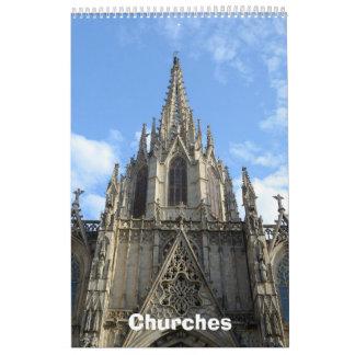 12 month Churches 2017 Photo wall Calendar