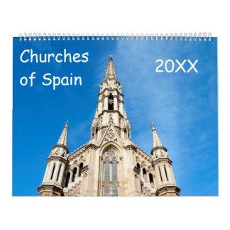 12 month churches of Spain Calendar