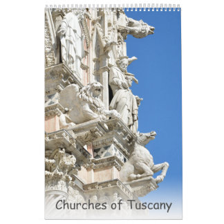 12 month Churches of Tuscany Calendar