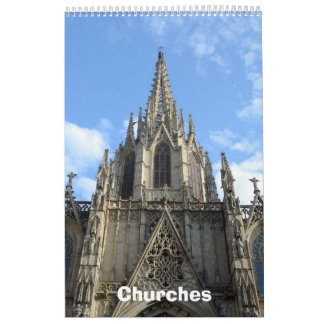 12 month Churches Photo wall Calendar