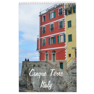 12 month Cinque Terre, Italy Photo Calendar