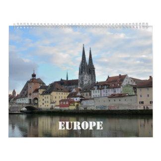 12 month Europe Wall Calendar