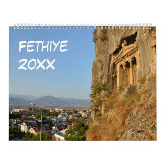 12 month Fethiye, Turkey 2017 Calendar