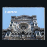 "12 month Florence, Italy Photo calendar<br><div class=""desc"">12 month Florence,  Italy photo calendar. Color photos including images of Florence Cathedral (Santa Maria del Fiore),  Ponte Vecchio,  Basilica of Santa Croce,  Basilica of Santa Maria Novella,  San Giovanni Baptistery.</div>"