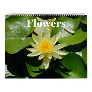 12 month Flowers 2017 Wall Calendar