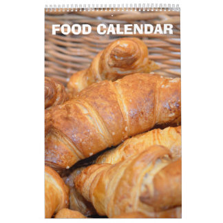 12 month Food Images collection Calendar