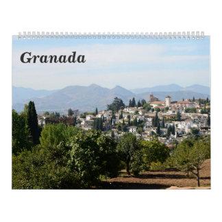 12 month Granada 2017 Wall Calendar
