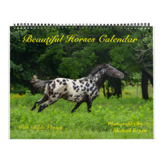 12 Month Horse Calendar with Bible Verses, Large