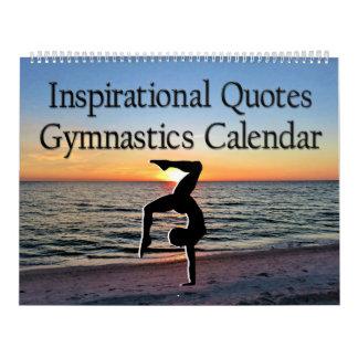 12 MONTH INSPIRATIONAL QUOTES GYMNASTICS CALENDAR