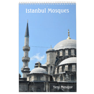 12 month Istanbul Mosques wall calendar