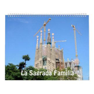 12 month La Sagrada Familia 2017 Photo Calendar