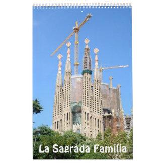 12 month La Sagrada Familia Photo Calendar