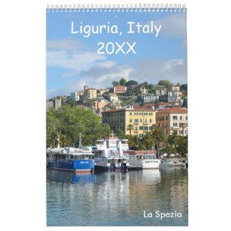12 month Liguria, Italy Calendar