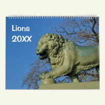 12 month Lions Photo Calendar