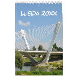 12 month Lleida, Spain Calendar