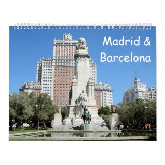 12 month Madrid & Barcelona Calendar