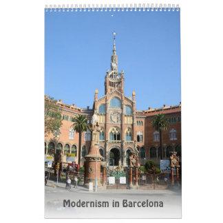 12 month Modernism in Barcelona Calendar