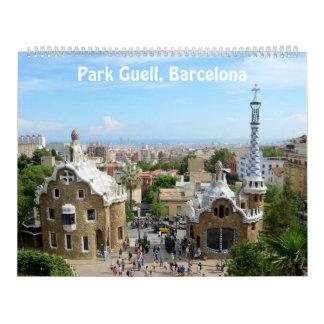 12 month Park Guell, Barcelona Photo Calendar