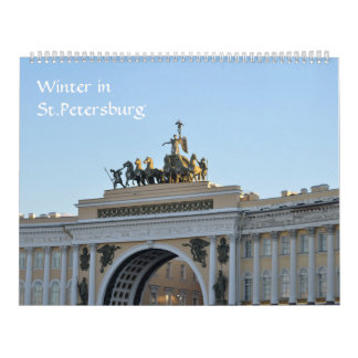 12 month Saint Petersburg Calendar