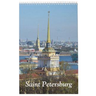 12 month Saint Petersburg wall calendar