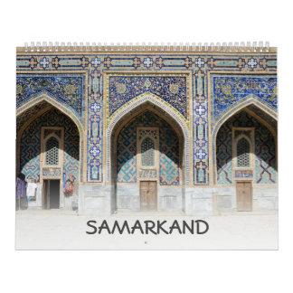 12 month Samarkand, Uzbekistan Calendar