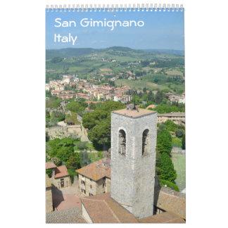 12 month San Gimignamo, Italy Photo Calendar