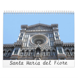 12 month Santa Maria del Fiore Photo Calendar