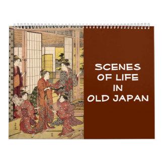 12 month Scenes of Old Japan (Japanese art) Calendar