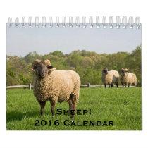 12 Month Sheep Calendar for 2016