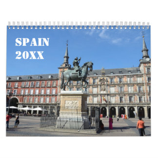 12 month Spain Wall Calendar