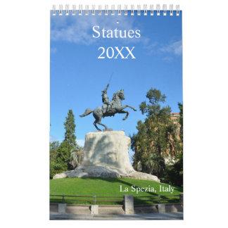 12 month Statues Calendar