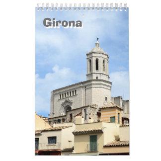 12 month Travel Girona wall Calendar