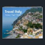 """12 month Travel Italy Calendar<br><div class=""""desc"""">12 month customizable Wall Photo Calendar. Travel Italy - Positano,  Capri,  Amalfi</div>"""