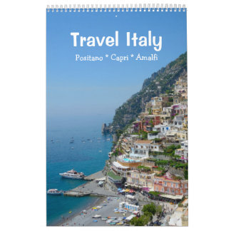 12 month Travel Italy Calendar