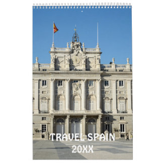 12 month Travel Spain calendar