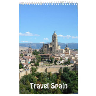 12 month Travel Spain Photo Calendar
