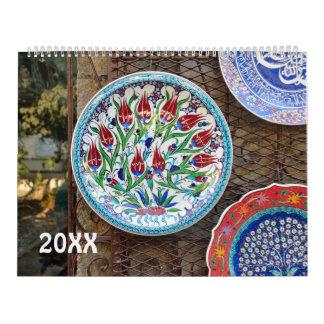 12 month turkish ceramics 2017 calendar