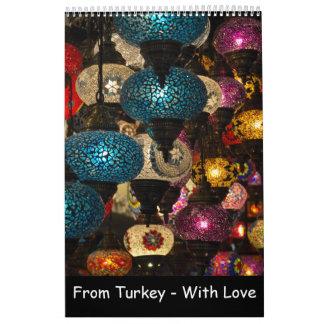12 month Turkish Souvenirs Calendar