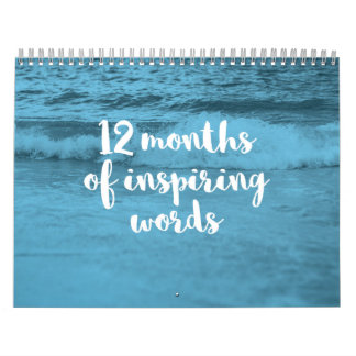 12 Months of Inspirational Quotes Calendar