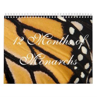 12 Months of Monarchs Calendar